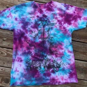 Tie dyed nightmare before Christmas shirt